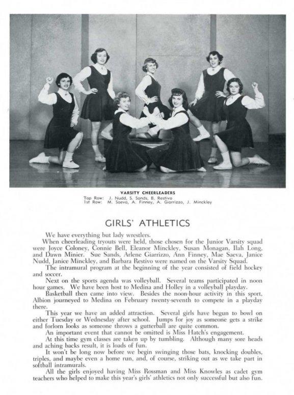 1954 Chevron Throwback Thursday_Class of 1954_Varsity Cheerleaders
