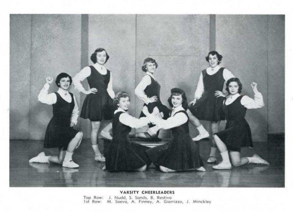 1954_V Cheerleaders
