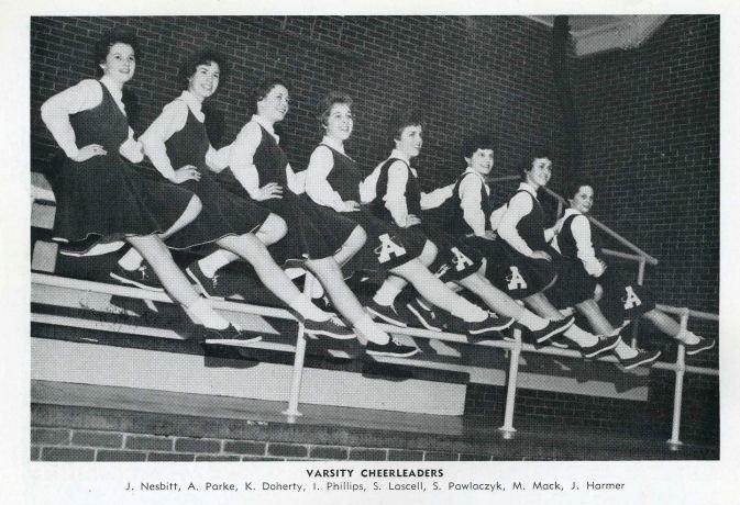 1961_V Cheerleaders